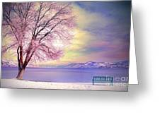 The Pastel Dreams Of Winter Greeting Card