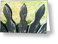 The Patchy Fence  Greeting Card