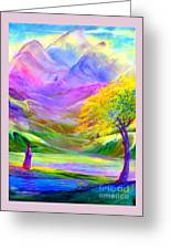 Misty Mountains, Fall Color And Aspens Greeting Card