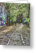 The Path Of Graffiti Greeting Card