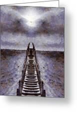 The Path To Heaven Greeting Card by Dan Sproul