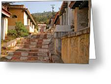 The Path To The Temple Greeting Card