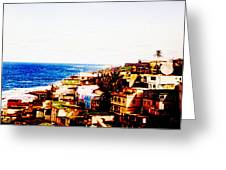 The Pearl Of Old San Juan Greeting Card by Sandra Pena de Ortiz