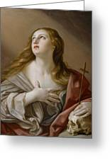 The Penitent Magdalene Greeting Card by Guido Reni