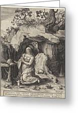 The Penitent Mary Magdalene, Antonie Wierix II Greeting Card