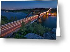 The Pennybacker Bridge At Twilight Greeting Card