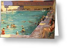 The Peoples Pool, Palm Beach, 1927 Greeting Card