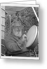 The Percussionist And  Storyteller Greeting Card