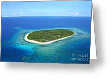 The Perfect Island Greeting Card by Lars Ruecker