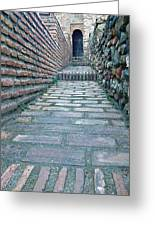 The Perspective Of Bricks Greeting Card