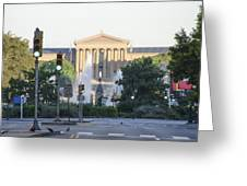 The Philadelphia Art Museum From The Parkway Greeting Card