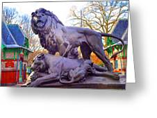 The Philadelphia Zoo Lion Statue Greeting Card
