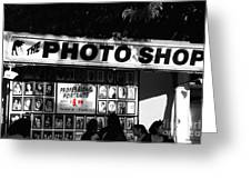 The Photo Shop Greeting Card by Cheryl Young