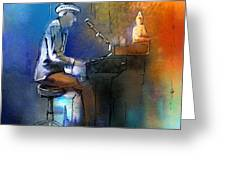 The Pianist 01 Greeting Card