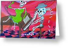 The Pianist Day Of The Dead Greeting Card