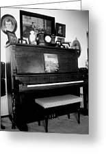 The Piano And Clarinet  Greeting Card