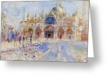 The Piazza San Marco Greeting Card