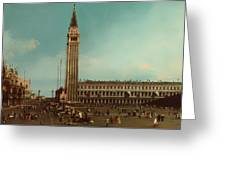 The Piazza San Marco Venice Greeting Card