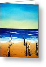 The Picket Beach Greeting Card