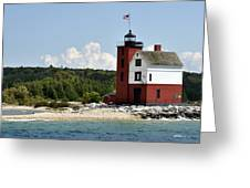 Round Island Lighthouse Mackinac The Picnic Spot Greeting Card