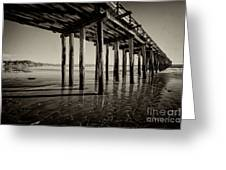 The Pier At Cayucos Greeting Card
