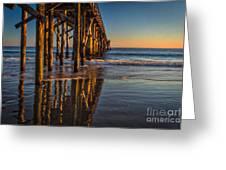The Pier At Goleta Beach Greeting Card