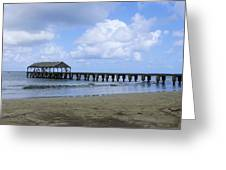 The Pier At Hanalei Greeting Card