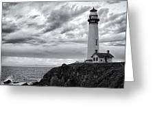 The Pigeon Point Beacon Greeting Card by Eduard Moldoveanu