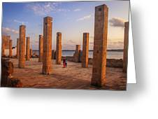The Pillars Of The Earth Greeting Card