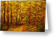 The Pine Tree Forest-original Sold-buy Giclee Print Nr 34 Of Limited Edition Of 40 Prints  Greeting Card