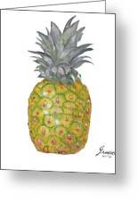 The Pineapple On White Greeting Card