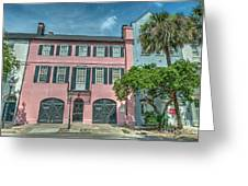 The Pink House Greeting Card