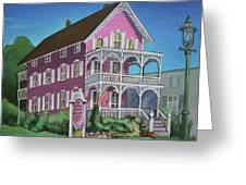 The Pink House In Cape May Greeting Card