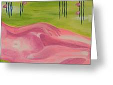 The Pink Lady Greeting Card