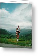 The Piper At The Great Glen Greeting Card