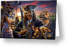 The Pirate Greeting Card by Adrian Chesterman