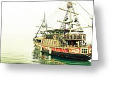The Pirate Ship. Greeting Card