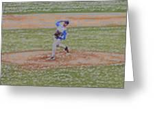 The Pitcher Digital Art Greeting Card
