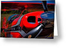 The Pitts S2-b Biplane - Will Allen Airshows Greeting Card