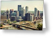 The Pittsburgh Skyline Greeting Card