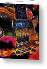 The Player - Guitar Art Greeting Card