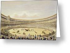 The Plaza De Toros Of Madrid, 1865 Greeting Card