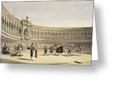 The Plaza Of Seville, 1865 Greeting Card
