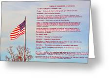 The Pledge Greeting Card