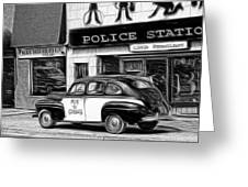 The Police Car Greeting Card