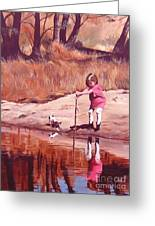 The Pond Greeting Card by Suzanne Schaefer