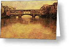 The Ponte Vecchio In Florence Italy Greeting Card