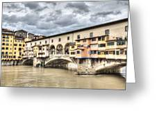 The Ponte Vecchio In Florence Greeting Card
