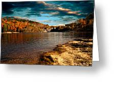 The Pool Below Upper Falls Rumford Maine Greeting Card by Bob Orsillo