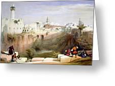 The Pool  Of Bethesda Jerusalem Greeting Card